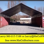 Cargo Shipping Container Cover Shelter & Covered Work Space
