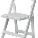 White Wood Wedding Chair at Larry Hoffman Chair
