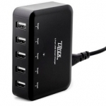 Liztek 5 Port SmartLiz USB Desktop Charger