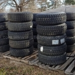 Lot of 101 humvee tires and wheels