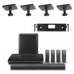 Bose Lifestyle 650 Home Entertainment System with 2 Pairs of OmniJewel Ceiling Brackets and OmniJewel Center Channel Wall Bracket