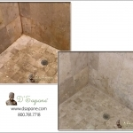 Travertine Tile Shower Restoration in Nassau, NY