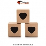 Bath bomb packaging with Printed logo & Design in USA